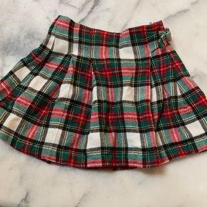 Carter's Christmas plaid pleated skirt